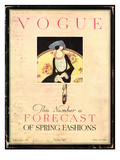 Vogue Cover - February 1919 Premium Giclee Print by Harriet Meserole