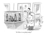 """So! How is everybody today?"" - New Yorker Cartoon Premium Giclee Print by Mick Stevens"