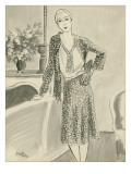 "Vogue - August 1929 Premium Giclee Print by Carl ""Eric"" Erickson"