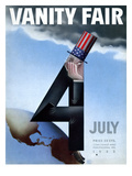 Vanity Fair Cover - July 1933 Regular Giclee Print by  Garretto
