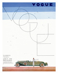 Vogue Cover - June 1930 - Summer Travel Regular Giclee Print by Georges Lepape