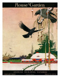 House & Garden Cover - February 1920 Premium Giclee Print by Charles Livingston Bull