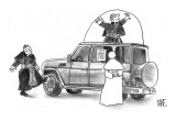 Pope shopping for new Popemobile. - New Yorker Cartoon Premium Giclee Print by John Kane