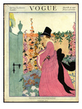 Vogue Cover - March 1918 Regular Giclee Print by Helen Dryden