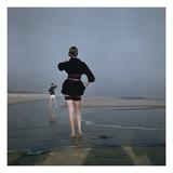 Vogue - December 1946 - Wading at Low Tide Regular Photographic Print by Serge Balkin
