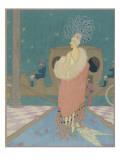 Vogue - January 1918 Regular Giclee Print by Helen Dryden