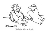 """Oh, I'm just riding out the cycle."" - New Yorker Cartoon Premium Giclee Print by Charles Barsotti"