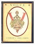 Vogue Cover - February 1917 Premium Giclee Print by Frank X. Leyendecker