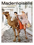 Mademoiselle Cover - April 1958 Regular Giclee Print by Herman Landshoff