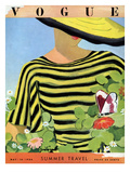 Vogue Cover - May 1934 - Glam Gardening Premium Giclee Print by Alix Zeilinger