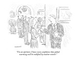 """I'm an optimist. I have every confidence that global warming will be null…"" - New Yorker Cartoon Premium Giclee Print by Robert Mankoff"