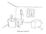 """Polly wants a flu shot."" - New Yorker Cartoon Premium Giclee Print by Michael Shaw"