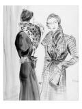 Vogue - December 1933 Regular Giclee Print by René Bouét-Willaumez