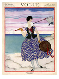 Vogue Cover - July 1921 Premium Giclee Print by Helen Dryden