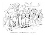 """Straighten that hat, soldier! Button that collar! I have spoken."" - New Yorker Cartoon Premium Giclee Print by  Alain"