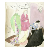Vogue - March 1935 Premium Giclee Print by Marcel Vertes