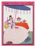 Vogue Cover - June 1915 Premium Giclee Print by Helen Dryden