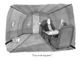 """I try to do my part."" - New Yorker Cartoon Premium Giclee Print by Jason Patterson"