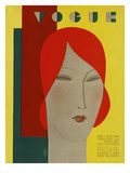 Vogue Cover - August 1929 Premium Giclee Print by Eduardo Garcia Benito