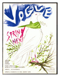 Vogue Cover - March 1949 Premium Giclee Print by Marcel Vertes
