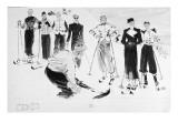 Vogue - December 1936 Regular Giclee Print by René Bouét-Willaumez