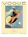 Vogue Cover - February 1927 - Flying Zebra Regular Giclee Print by George Wolfe Plank