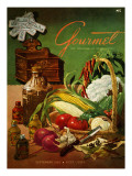 Gourmet Cover - September 1952 Regular Giclee Print by Henry Stahlhut