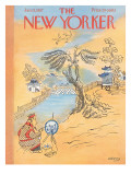 The New Yorker Cover - January 12, 1957 Premium Giclee Print by Anatol Kovarsky