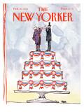 The New Yorker Cover - February 19, 1990 Regular Giclee Print by Robert Weber
