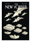 The New Yorker Cover - April 9, 2007 Regular Giclee Print by Christoph Niemann