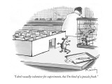 """I don't usually volunteer for experiments, but I'm kind of a puzzle freak."" - New Yorker Cartoon Premium Giclee Print by Mike Twohy"
