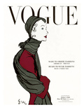 "Vogue Cover - October 1948 Regular Giclee Print by Carl ""Eric"" Erickson"
