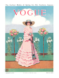 Vogue Cover - January 1912 Regular Giclee Print by Mrs. Newell Tilton