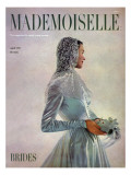 Mademoiselle Cover - April 1947 Regular Giclee Print by Gene Fenn