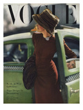 Vogue Cover - September 1945 Premium Giclee Print by Constantin Joff&#233;
