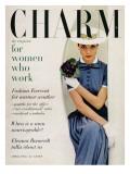 Charm Cover - April 1955 Premium Giclee Print by Carmen Schiavone