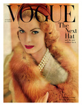 Vogue Cover - August 1957 Premium Giclee Print by Horst P. Horst