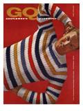 GQ Cover - October 1958 Regular Giclee Print by Leonard Nones