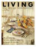 Living for Young Homemakers Cover - May 1956 Premium Giclee Print by Luis Lemus
