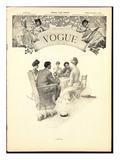 Vogue Cover - April 1903 Regular Giclee Print by Eduardo Garcia Benito
