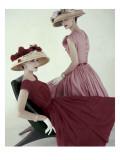 Vogue - April 1956 Regular Photographic Print by Karen Radkai