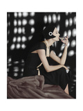 Vogue - November 1960 - Art Deco Martini Regular Photographic Print by Karen Radkai