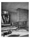 House & Garden - August 1949 Premium Photographic Print by Julius Shulman