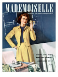 Mademoiselle Cover - January 1942 Regular Giclee Print by Paul D'Ome
