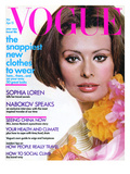 Vogue Cover - April 1972 Regular Giclee Print by Henry Clarke