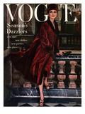 Vogue Cover - November 1955 Regular Giclee Print by Henry Clarke