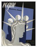 Vogue Cover - February 1939 Regular Giclee Print by Witold Gordon