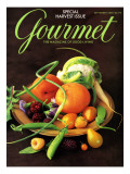 Gourmet Cover - September 2000 Regular Giclee Print by Romulo Yanes