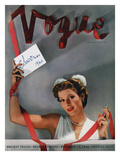 Vogue Cover - December 1940 Regular Giclee Print by John Rawlings