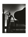 Vogue - November 1935 - Piano Silhouette Regular Photographic Print by Edward Steichen